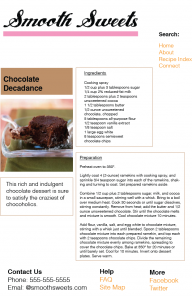 Tablet Recipe Page Layout Design